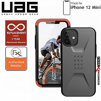 "UAG Civilian for iPhone 12 Mini 5G 5.4"" - Silver ( Barcode : 812451036527 )"