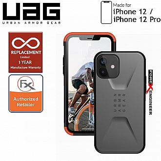 "UAG Civilian for iPhone  12  / 12 Pro  5G 6.1"" - Silver ( Barcode : 812451036947 )"