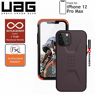 "UAG Civilian for iPhone 12 Pro Max 5G 6.7"" - Eggplant ( Barcode : 812451037227 )"