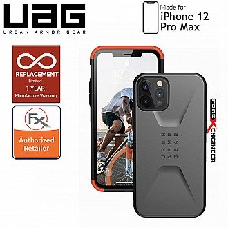 "UAG Civilian for iPhone 12 Pro Max 5G 6.7"" -  Silver  ( Barcode : 812451037210 )"