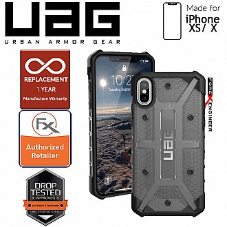 UAG Plasma for iPhone X / Xs Feather-Light Rugged & Military Drop Tested - Ash