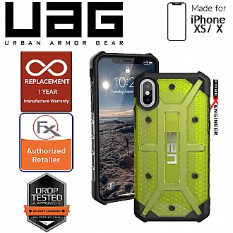 UAG Plasma for iPhone X / Xs Feather-Light Rugged & Military Drop Tested - Citron