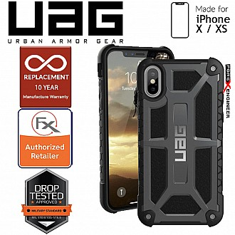 UAG Monarch for iPhone X / Xs Feather-Light Rugged & Military Drop Tested - Graphite