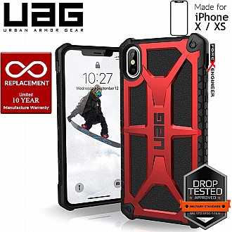 UAG Monarch for iPhone X / Xs Feather-Light Rugged & Military Drop Tested - Crimson