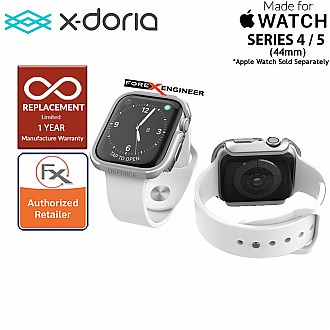 X-Doria Defense Edge Case for Apple Watch Series SE / 6 / 5 / 4 - 44mm -  Silver / Gray Color