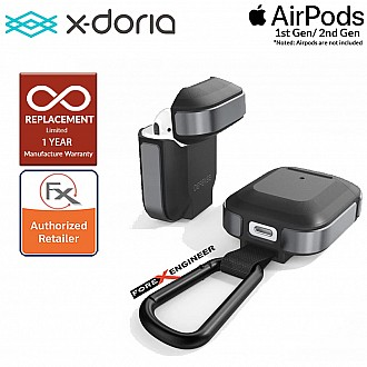 X-Doria Defense Trek for AirPods 1 & 2 Compatible - Black Color