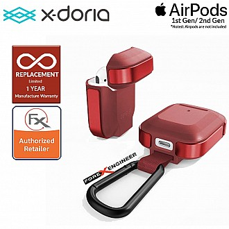 X-Doria Defense Trek for AirPods 1 & 2 Compatible - Red Color