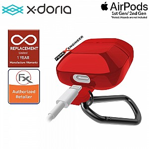 X-Doria Defense Journey for AirPods 1 & 2 Compatible  - Red Color