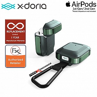 X-Doria Defense Trek for AirPods 1 & 2 Compatible - Midnight Green Color