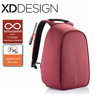 "XD Design Bobby Hero Small Anti-Theft Backpack , Fits 13.3"" Laptop - Red Color"
