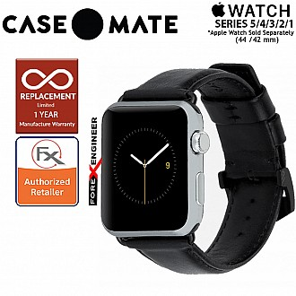Case Mate Signature Leather Band for Apple Watch  Series SE / 6 / 5 / 4 / 3 / 2 / 1 ( 42mm / 44mm ) - Black Color ( Barcode : 846127171090 )