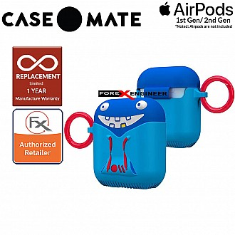 Case Mate CreaturePods for Airpods Series 1 & 2 - Tricky Trickster Case with Red Carabiner Clip ( Barcode : 846127187015 )