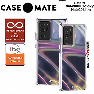 Case Mate Soap Bubble for Samsung Galaxy Note 20 Ultra 5G 2020 - with Micropel antimicrobial protection - Iridescent  Color ( Barcode : 846127195263 )