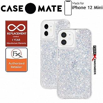 """Case Mate Twinkle for iPhone 12 Mini 5G 5.4"""" - Stardust with MicroPel (Barcode: 846127196550)"""