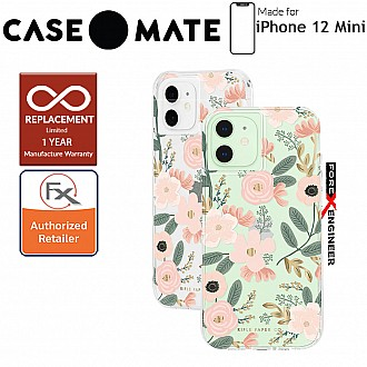 """Case Mate Rifle Paper Co. for iPhone 12 Mini 5G 5.4"""" - Wild Flowers with MicroPel (Barcode: 846127196598 )"""