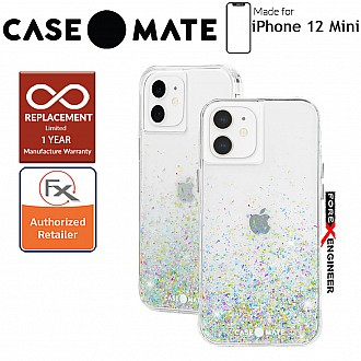 """Case Mate Twinkle Ombré for iPhone 12 Mini 5G 5.4"""" - Confetti with MicroPel (Barcode: 846127197083)"""