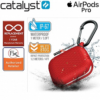 Catalyst Waterproof Case for AirPods Pro Premium Edition - Flame Red  Color