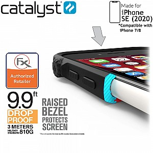 Catalyst Impact Protection Case for iPhone SE ( 2020 ) compatible with iPhone 8 / 7 - Stealth Black Color ( Barcode: 840625102143 )