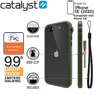 Catalyst Impact Protection Case for iPhone SE ( 2020 ) compatible with iPhone 8 / 7 - Army Green Color ( Barcode: 840625102167 )