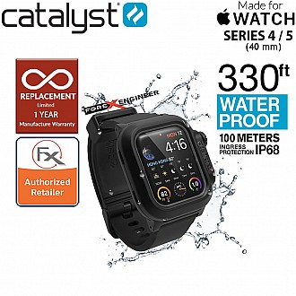 Catalyst Waterproof Case for Apple Watch Series 4 / 5 , 40mm - Stealth Black Color