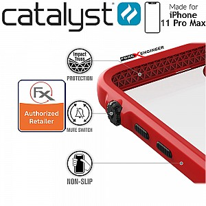 Catalyst Impact Protection Case for iPhone 11 Pro Max (Black/Red)