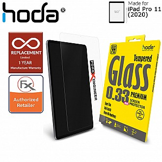 "Hoda Tempered Glass Screen Protector for iPad Pro 11 inch / 11"" ( 2020 ) 2rd Gen - Compatible with iPad Pro 11 ( 2019 ) 1st Gen & 2018 ver ( Barcode: 4713381512821) - New Packaging"