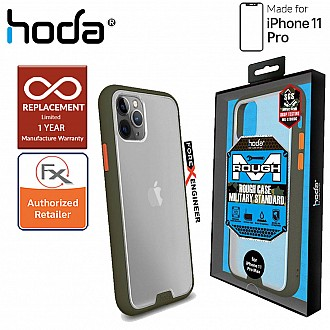 HODA ROUGH Military Case for iPhone 11 Pro - Military Drop Protection - Green Color ( Barcode: 4713381514788 )
