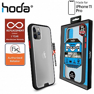 HODA ROUGH Military Case for iPhone 11 Pro - Military Drop Protection - Black Color ( Barcode: 4713381514788 )