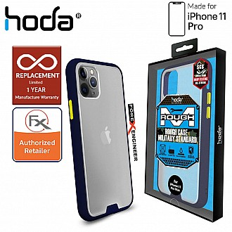 HODA ROUGH Military Case for iPhone 11 Pro - Military Drop Protection - Dark Blue Color ( Barcode: 4713381514818 )