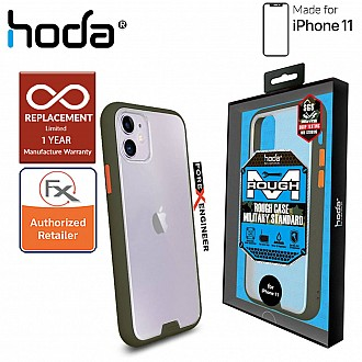 HODA ROUGH Military Case for iPhone 11 - Military Drop Protection - Green Color ( Barcode: 4713381514832 )