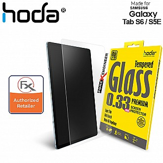 Hoda Tempered Glass for Samsung Galaxy Tab S6 / S5E - 2.5D 0.33mm Screen Protector - Black