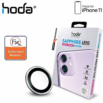 Hoda Sapphire Lens Protector for iPhone 12 / 12 Mini / 11 - 2 pcs  - Silver Color