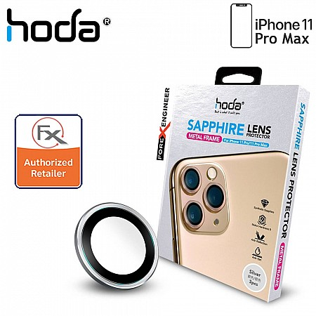 Hoda Sapphire Lens Protector for iPhone 11 / 11 Pro Max - 3 pcs - Silver Color
