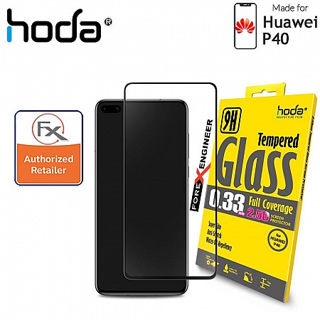 Hoda Tempered Glass for Huawei P40 - 2.5D 0.33mm Full Coverage Screen Protector - Black Color  ( Barcode: 4713381516454 )