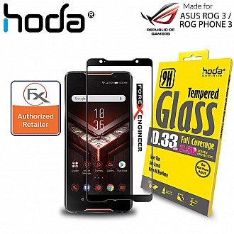 Hoda Tempered Glass for ASUS ROG 3 / ASUS ROG Phone 3 ( ZS661KS ) - 2.5D 0.33mm Screen Protector - Clear / Black Color ( Barcode : 4713381517215 )