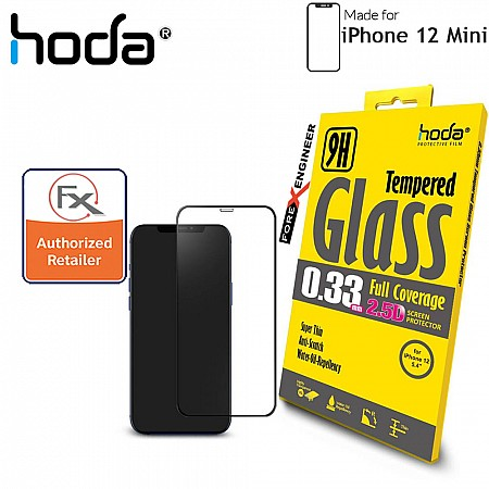 """Hoda Tempered Glass for iPhone 12 Mini (5.4"""") - 2.5D 0.33mm Full Coverage Screen Protector - Clear (Barcode : 4713381518328 )"""