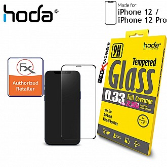 "Hoda Tempered Glass for iPhone 12 / 12 Pro (6.1"") - 2.5D 0.33mm Full Coverage Screen Protector - Clear (Barcode : 4713381518335 )"