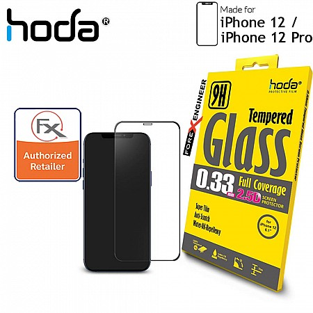 """Hoda Tempered Glass for iPhone 12 / 12 Pro (6.1"""") - 2.5D 0.33mm Full Coverage Screen Protector - Clear (Barcode : 4713381518335 )"""