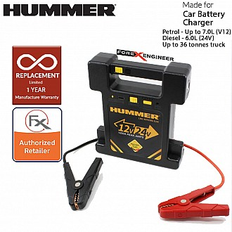 Hummer H24 Multifunctional + Powerbank Jump Starter 23000mah / 12V & 24V / 900A-1200A for engine up to 7L Petrol and Diesel ( Barcode: 4897035892306 )