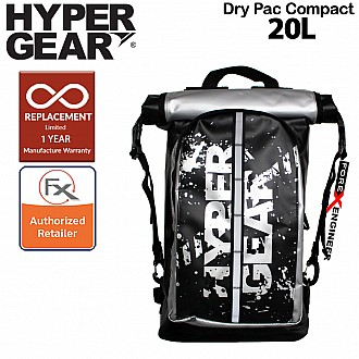 HyperGear Dry Pac Compact 20L SE Special Edition - Waterproof and Lightweight Backpack - Silver Color ( Barcode : 302063 )