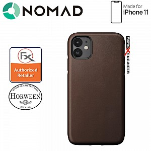 Nomad Rugged Case for iPhone 11 Rustic Brown color