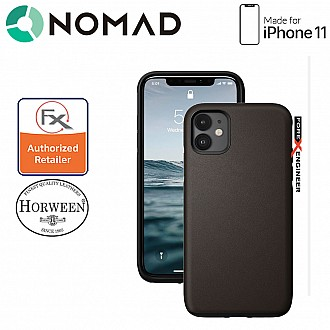 Nomad Active Rugged Case for iPhone 11 - Water resistant leather / Kulit Kalis Air - Mocha Brown Color