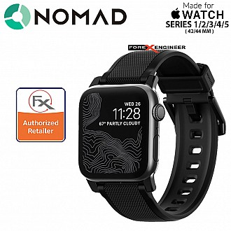 Nomad Rugged Strap for Apple Watch 44mm / 42mm Series SE / 6 / 5 / 4 / 3 / 2 / 1 Black