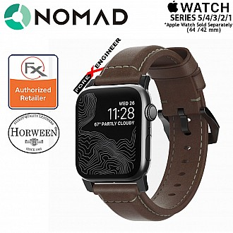 Nomad Traditional Leather Strap for Apple Watch Series SE / 6 / 5 / 4 / 3 / 2 / 1 - 42mm / 44mm - Silver Hardware
