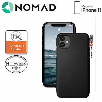 Nomad Active Rugged Case for iPhone 11 - Water resistant leather / Kulit Kalis Air - Black Color