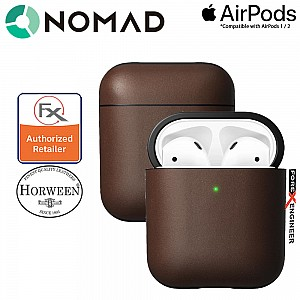 Nomad Rugged Case for AirPods and AirPods with Wireless Charging Case ( Airpods 1 & 2 Compatible ) - Rustic Brown color
