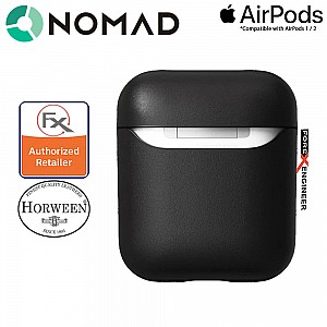 Nomad Rugged Case for AirPods and AirPods with Wireless Charging Case ( Airpods 1 & 2 Compatible ) - Black color