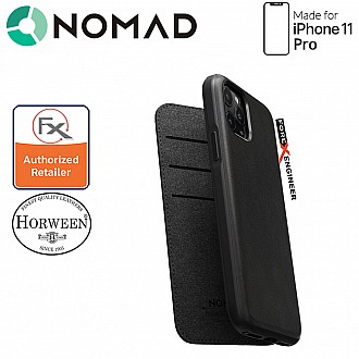 Nomad Rugged Folio Leather Case for iPhone 11 Pro - Black Color