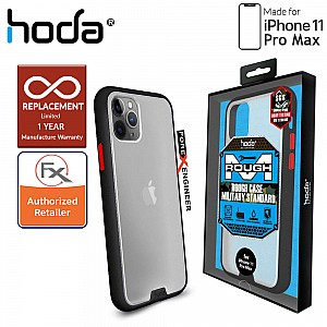 HODA ROUGH Military Case for iPhone 11 Pro Max - Military Drop Protection - Black Color ( Barcode: 4713381514887 )