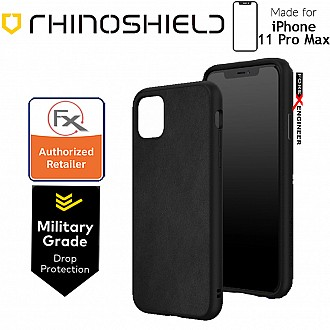 Rhinoshield SolidSuit for iPhone 11 Pro Max (Leather Black)